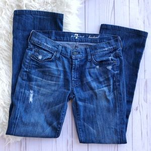 7 For All Mankind jewel pocket bootcut Jeans
